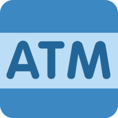 Automated Teller Machine twitter emoji