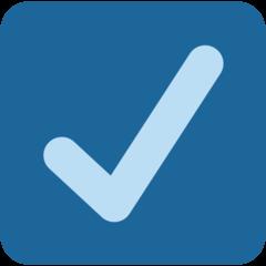 Ballot Box With Check twitter emoji
