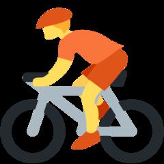 Bicyclist twitter emoji