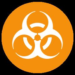 Biohazard Sign twitter emoji