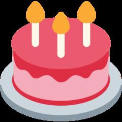 Birthday Cake twitter emoji