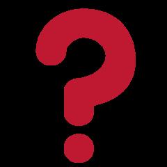 Black Question Mark Ornament twitter emoji
