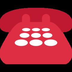 Black Telephone twitter emoji