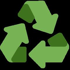 Black Universal Recycling Symbol twitter emoji