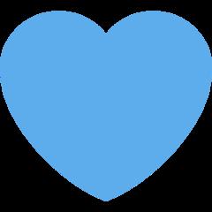 Blue Heart twitter emoji