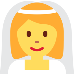 Bride With Veil twitter emoji