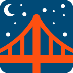 Bridge At Night twitter emoji