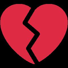Broken Heart twitter emoji