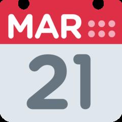 Calendar twitter emoji