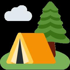 Camping twitter emoji