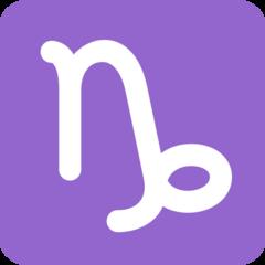 Capricorn twitter emoji