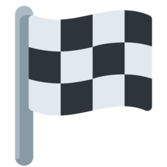 Chequered Flag twitter emoji