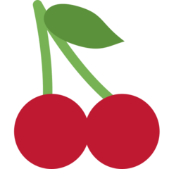 Cherries twitter emoji