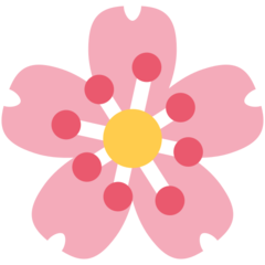 Cherry Blossom twitter emoji