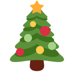 Christmas Tree twitter emoji