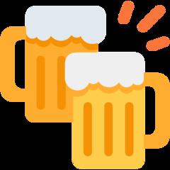 Clinking Beer Mugs twitter emoji