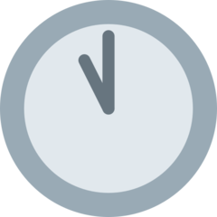Clock Face Eleven Oclock twitter emoji