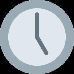 Clock Face Five Oclock twitter emoji