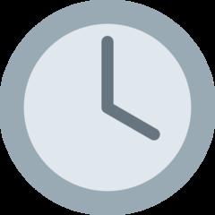 Clock Face Four Oclock twitter emoji