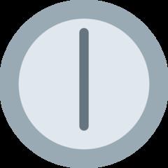 Clock Face Six Oclock twitter emoji