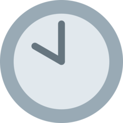 Clock Face Ten Oclock twitter emoji
