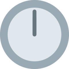 Clock Face Twelve Oclock twitter emoji