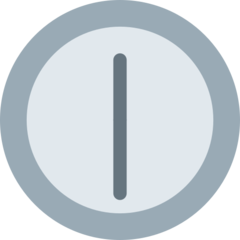 Clock Face Twelve-thirty twitter emoji