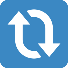 Clockwise Downwards And Upwards Open Circle Arrows twitter emoji