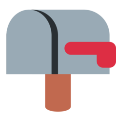 Closed Mailbox With Lowered Flag twitter emoji