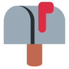 Closed Mailbox With Raised Flag twitter emoji