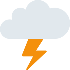 Cloud With Lightning twitter emoji