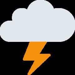 Cloud With Lightning twitter emoji