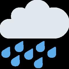 Cloud With Rain twitter emoji