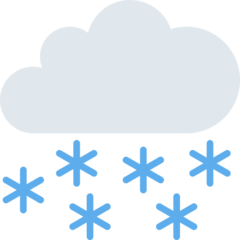 Cloud With Snow twitter emoji