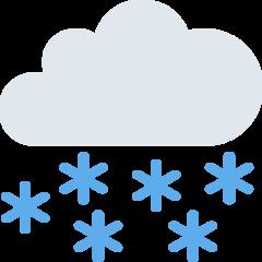Cloud With Snow twitter emoji