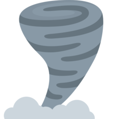 Cloud With Tornado twitter emoji