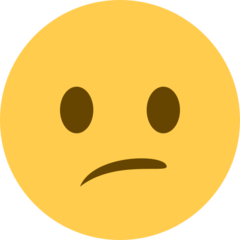 Confused Face twitter emoji