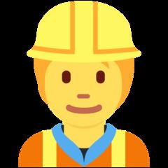 Construction Worker twitter emoji