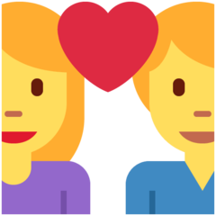 Couple With Heart twitter emoji
