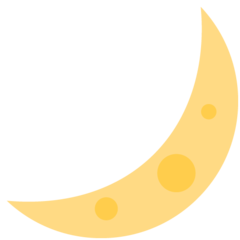 Crescent Moon twitter emoji