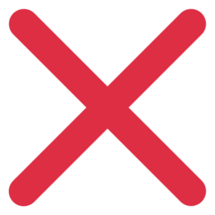 Cross Mark twitter emoji