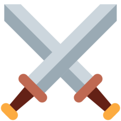 Crossed Swords twitter emoji