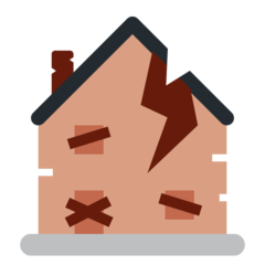 Derelict House Building twitter emoji