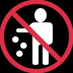 Do Not Litter Symbol twitter emoji
