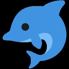 Dolphin twitter emoji