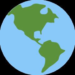Earth Globe Americas twitter emoji