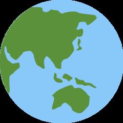 Earth Globe Asia-australia twitter emoji
