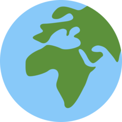 Earth Globe Europe-africa twitter emoji