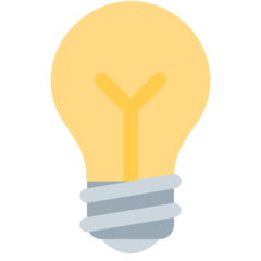 Electric Light Bulb twitter emoji