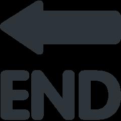 End With Leftwards Arrow Above twitter emoji